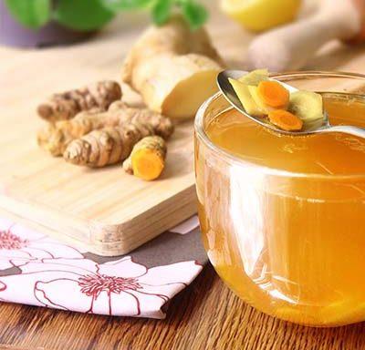 turmeric ginger lemon detox drink