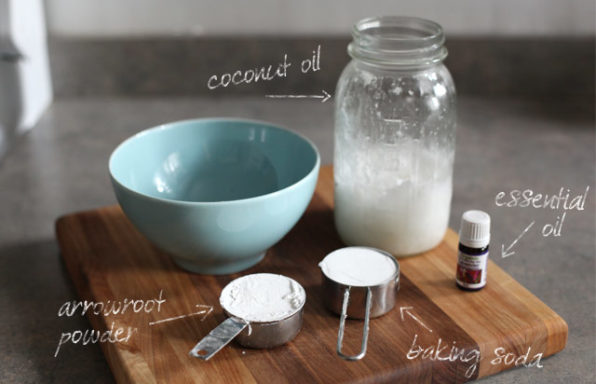 homemade deodorant with cooking ingredients