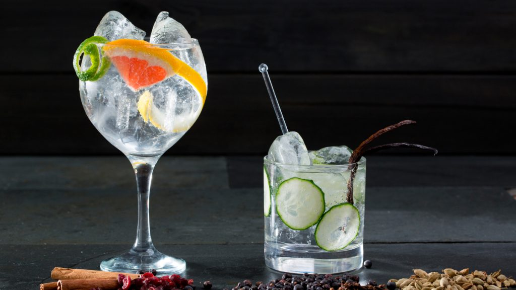 gin and soda water for a healthy living diet