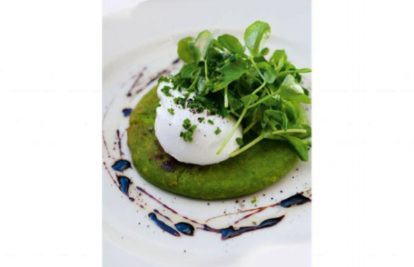 pea pancakes with poached eggs for a glutenfree protein rich breakfast