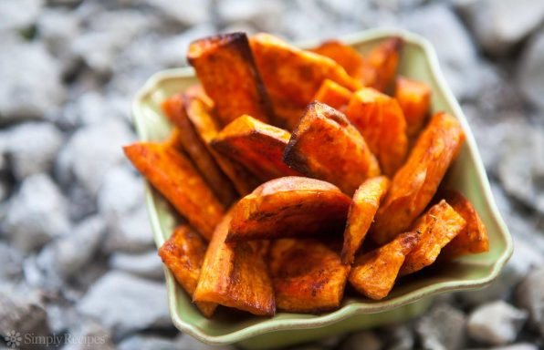 sweet potato fries as a healthy and nutritious carb refill option